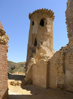 Veduta interno torre castello